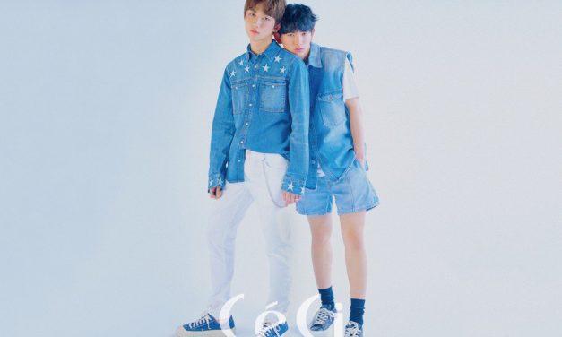 Ahn Hyung Seob & Lee Eui Woong Tampil Serba Biru di Majalah 'CeCi'